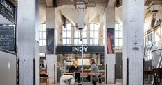 Eindhoven studio Wenink Holtkamp Architecten has converted a former grain silo in the Dutch city of Deventer into a community food hall overlooking the harbou Food Hub, A Food, Multipurpose Hall, Grain Storage, Grain Silo, Food Court, Eindhoven, Cafe Restaurant, Best Coffee
