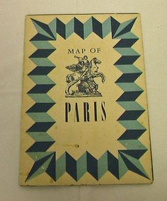 1950's Paris France Bank Brochure Map Vintage Tourist Souvenir Advertise Paper