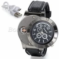 Mens Unique Military Decoration Quartz Wrist Watch Watches USB Cigarette Lighter | eBay