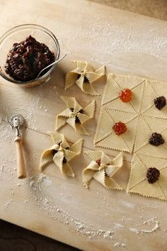 Finnish Joulutortut (Star Pastries) Photo: Craig Lee, Special To The Chronicle Xmas Food, Christmas Desserts, Christmas Baking, Swedish Christmas, Christmas Foods, Scandinavian Christmas, Pastry Recipes, Cookie Recipes, Dessert Recipes
