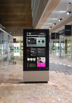 Interactive Wayfinder solution at Gloucester Quays shopping centre.
