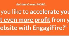https://ift.tt/2zEjepX ==>Engagifire  TOP Software to Creates Highly Engaging Push-Notifications Opt-in Forms & Exit Offers on ANY Website In Minutes  Engagifire is AMAZING Product created by Stuart Frank. Engagifire is TOP Software to Creates Highly Engaging Push-Notifications Opt-in Forms & Exit Offers on ANY Website In Minutes. with Engagifire Grow your list faster get more traffic and the easiest way to sell online. Bold claims? Weve got the proof to back it up this simple drag-drop…
