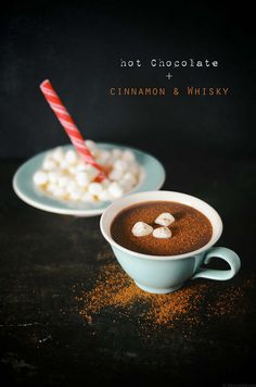 peppermint hot chocolate with cinnamon and whisky by abrowntable, via Flickr