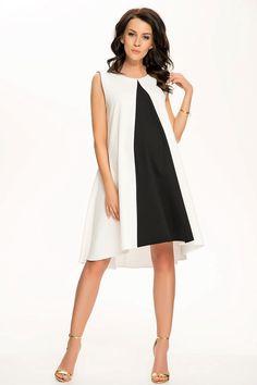 Vkusné černo bílé těhotenské šaty bez rukávů Dresses For Work, Fashion, Arches, Moda, Fashion Styles, Fashion Illustrations