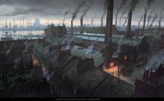 View an image titled 'London Rooftops Art' in our Assassin's Creed Syndicate art gallery featuring official character designs, concept art, and promo pictures. Victorian London, Victorian Era, Assassins Creed Syndicate, All Assassin's Creed, Steampunk, Full Hd Pictures, Xbox One, London Art, Environment Design