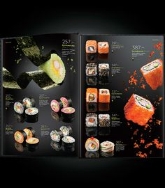 Really well done menu. https://www.behance.net/gallery/20876321/Yakitoriya-Zero-Gravity-Menu