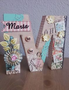 Letras decoradas con scrapbooking