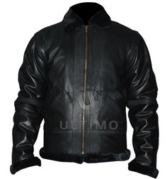Heavy Duty Fur Biker Black Leather Jacket  	The rough and tough biker boys always needs a heavy duty outwear so this jacket is perfect for them.This jacket is simple yet trendy to biker boys who always look for something best. The fur on collar, sleeve edges and waist add real beauty to this ja