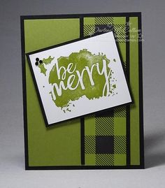 10 Minute Christmas Card - www.dreamingaboutrubberstamps.com - With the Every Good Wish stamp set and Merry Little Christmas Designer Series Paper you can make 10 minute Christmas cards that are fast and inexpensive