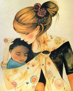 Claudia Tremblay - babywearing art print.