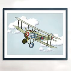 Vintage Airplane   Children's Art Printable  by PebblesPrints, $7.50