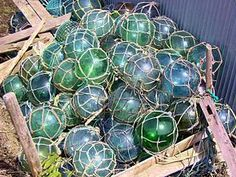 Japanese glass floats wash up on the beaches of Alaska...I need some for my bathroom.  I had some when I lived there but not sure what happened to them!