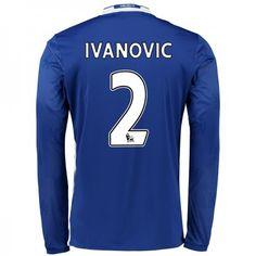 Chelsea 16-17 Branislav #Ivanovic 2 Hjemmebanesæt Lange ærmer,245,14KR,shirtshopservice@gmail.com