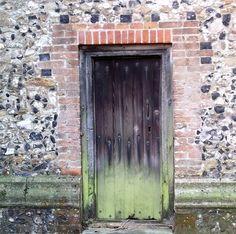 Old Door in a Flint Wall