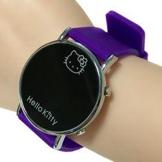 Clock Kitty Fashion Cartoon Watch Hello Kitty Watch for Girls Kid Children Casual Silicone Digital LED Quartz Wristwatches Reloj