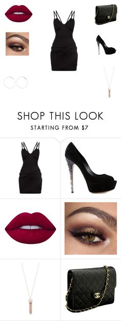 """""""Date Night"""" by domosbizzy ❤ liked on Polyvore featuring Casadei, Lime Crime, Michael Kors and Chanel"""