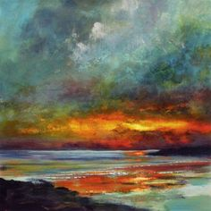 Buy A deep and solemn harmony - Seahouses Beach, Northumberland Coast, Oil painting by Rorie Nairn on Artfinder. Discover thousands of other original paintings, prints, sculptures and photography from independent artists.