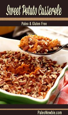 A healthier and delicious alternative to traditional sweet potatoes – without the marshmallows and brown sugar. Yummy fall spices and a nutty crunch topping.