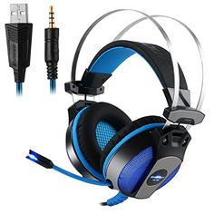 FarCry 5 Gamer  #Noise #Cancelling #PUBG #Gaming #Headset with Mic,LED #Lighting,#Volume #Control for #PC #Computer #Game #Apple #iPhone #iPad #Samsung #Tablet #PlayStation 4 #Nintendo #Switch (blue)   Price:     ♪Description:  Headphones on. World off.  These surround sound headphones position you in the center of an immersive 360-degree sound field. They let you hear every detail in every direction, just as the #game developer intended. Enemy fire. Sirens. Your opponent