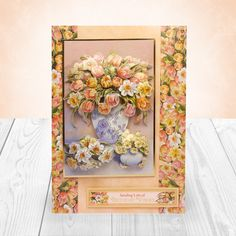 Floral Wonder created from Hunkydory Crafts' Step into Springtime Topper collection - Beautiful Blooms & Spring Flowers Deco-Large set