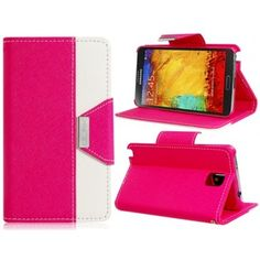 Two Tone Corp Pink Leather Samsung Note 3 Case