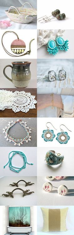 july5415 by Nika on Etsy-- #etsy #treasury #shabby #chic #basket #pink #moses #basket #trendy #turquoise #aqua Pinned with TreasuryPin.com