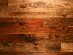 Reclaimed barn wood walnut flooring...love this!