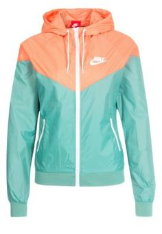 Nike Sportswear WINDRUNNER - Leichte Jacke - diffused jade  atomic orange   white - Zalando 2569a6124
