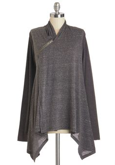 Busy Day Chic Cardigan. Creating a chic ensemble doesnt have to take all morning! #grey #modcloth