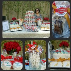 Retirement party oreos, cookies, cake pops, brownies and caramel wrapped pretzels