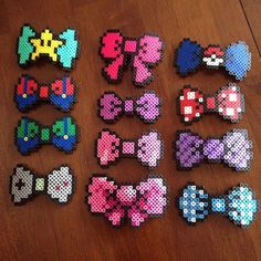 Bows perler beads by honey.beads