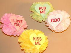 Sweet Heart Love pom pom kit  SET OF FOUR