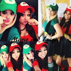 Mario and Luigi Halloween Costumes. So cute for best friends!