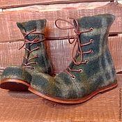 Валяные ботинки СИНИЕ – купить или заказать в интернет-магазине на Ярмарке Мастеров   Мужские валяные ботинки из новозеландского…