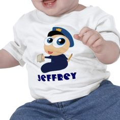 Adorable baby policeman is practicing to be a future police officer.