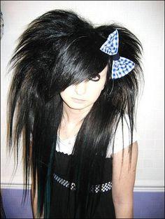 Japanese Scene Hairstyles for Girls   Very cute black puffy scene hair. For the emo girls :)