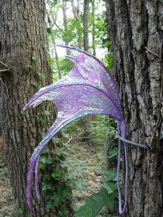 OOAK Iridescent Purple Hatchling Faerie Fairy Fae Wings Halloween