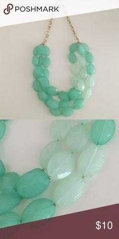 "Francesca's Aqua Statement Necklace Francesca's Aqua Statement Necklace // Gently Used - in great condition // Originally $24 // 30"" long Francesca's Collections Jewelry Necklaces"