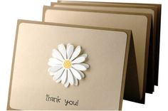 Thank You Cards simple thank you notes handmade by ecoPaperie