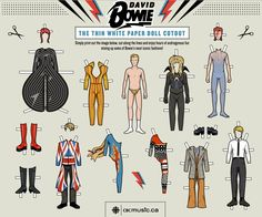 The Guidonian: David Bowie Paper Doll in honor of his 66th Birthday!