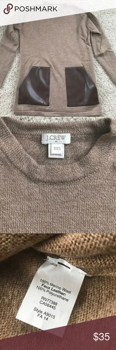 "J.CREW Merino Pocket Sweater Worn minimally and in excellent condition. Size XXS, fits like an XS. Beautiful color and 100% merino wool. 17"" chest, and 25"" long. All reasonable offers considered- bundle to save even more! J. Crew Sweaters Crew & Scoop Necks"