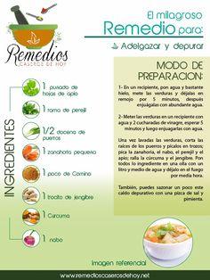 Depura tu organismo y adelgaza con esta receta.