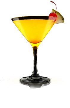 Sweet Sofi (2 oz. Portón Pisco   ½ oz. Cointreau    ½ oz. tangerine juice   ½ oz. pineapple juice   Pineapple wedge and cherry as garnish)