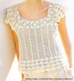 Wing Top free crochet graph pattern