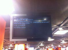 DUS Airport screen went black