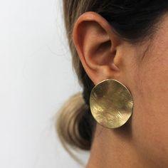 Annika Kaplan Jewelry brass dish earrings