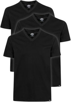 Dickies V-Neck-T-Shirt-Pack-(3-Stueck), T-Shirt, black Titus Titus Skateshop #TShirt #MenClothing #titus #titusskateshop