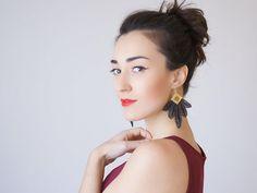 40%OFF Black Earrings Statement Earrings Lace Earrings Boho Earrings Long Earrings Leaf Earrings Fashion Earrings Gift For Her Gift/ CLAVESA
