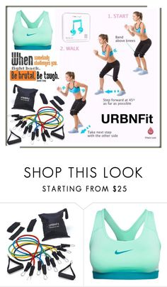 """URBNFit #1"" by hetkateta ❤ liked on Polyvore featuring NIKE and Happy Plugs"
