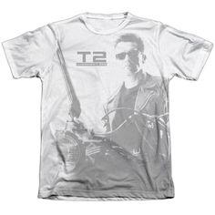 Terminator 2 T800 White Duo-Blend T-Shirt